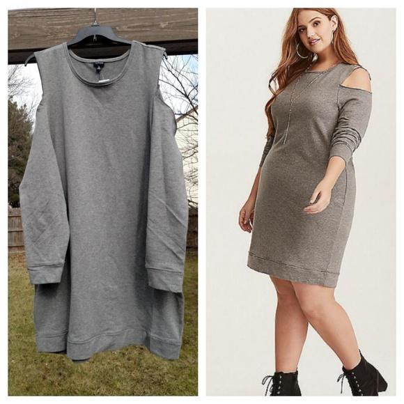 f0161def076 ➕Cold-Shoulder Sweatshirt Dress➕